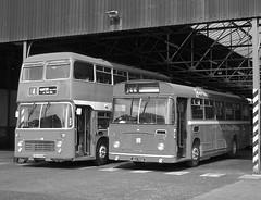 Premature send off (Renown) Tags: buses bristol newcastle vrt first re preserved staffordshire vr coaches preservation busgarage newcastleunderlyme series2 ecw pmt resl easterncoachworks firstgroup resl6l jeh198k oeh604m vrtsl6g