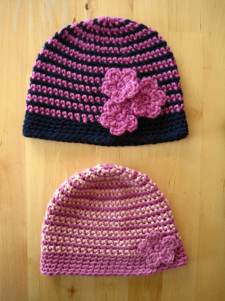 Two little hats for two little girls