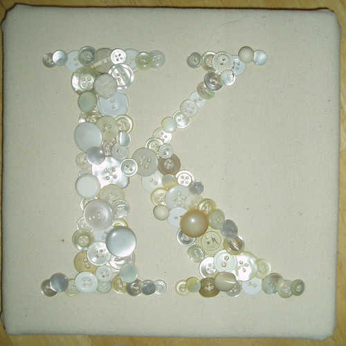 K button wall hanging