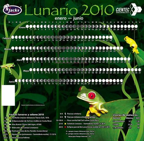 Lunario para los cereales Jack's 2010