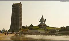 Murudeshwar Full (Bharathi mainthan) Tags: trip travel sunset vacation beach water statue river temple nikon peace natural god sigma lord divine manmade series 1855 shiva karnataka seashore sivam murudeshwar 70300 dhina d40 shimoga omnamahshivaya kadavul bakthi dhinawithlove wwwdhinawithloveconr bharathimainthan dhinathayalan