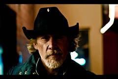 Les Baker (nic kirschner) Tags: street light portrait man hat night vancouver beard low homeless stranger