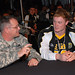Staff Sgt. Robert Higgins and Blake Lueders