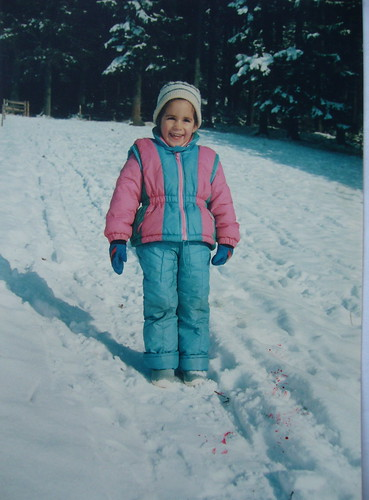 winter, when i was little.