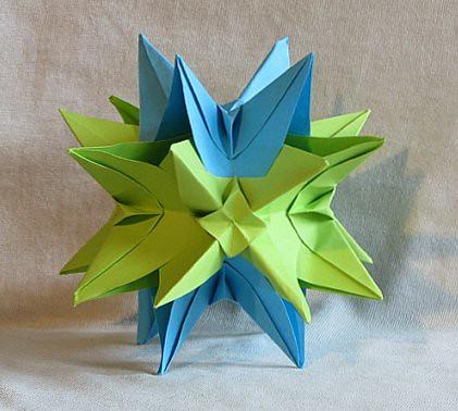 оригами, модулно оригами, фигури от хартия, кусудама, Неферет
