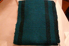Mom's Teal Woven Scarf pic 2