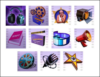 free Cinerama slot game symbols