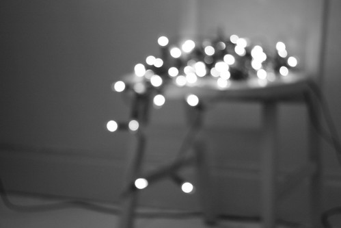 lights and chair