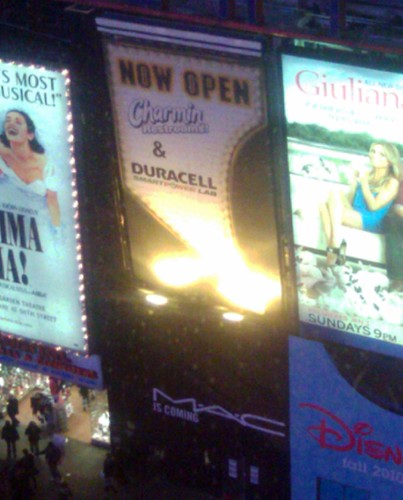 Times Square Charmin and Duracell Ad