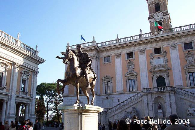 Piazza del Campidoglio. © Paco Bellido, 2004