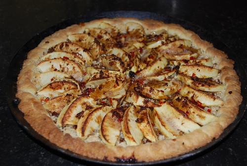 appeltaart met chilipeper en rozemarijn