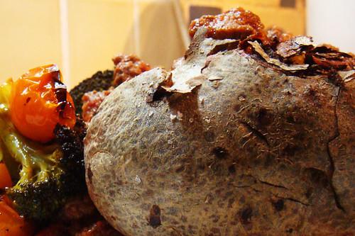 Crunchy baked potato