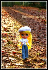 Lily is walking in the woods !!!