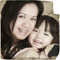 Have you hugged your child today? (lancelonie) Tags: portrait love smile smiling vintage hug child affection fave oldphoto embrace day18 motherandchild textured motheranddaughter vintagephoto project365 365days lancelonie lanceloniephotography newbecomesold neloniecrelencia lancelonie365 hugachildtoday momwithbraces mommywithbraces motherwithbraces