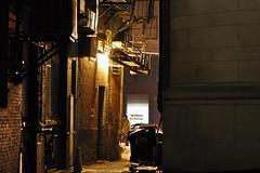 Shortcut (AntyDiluvian) Tags: winter boston night alley nightlights massachusetts shortcut fireescape bostonist batterymarchstreet