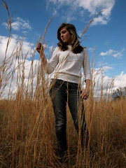 she said tell me what you're thinking boy please don't be shy. (HaleyBeckham) Tags: white colors field clouds pose photography soft natural bright wheat lindsay curly fields tall simple beauitful