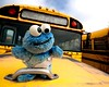 ".....Because He's ""Special"" (ICT_photo) Tags: school ontario bus abandoned toy puppet sesamestreet muppet cookiemonster rockwood mcleansjunkyard"