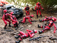"""And you want to be Siegies?"" (cradea2) Tags: trooper crimson cobra guard joe custom stinger gi commander"