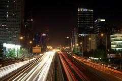 Downtown Beijing (dslarson83) Tags: beijing lighttrails nightphotograpghy jianguolu downtownbeijing