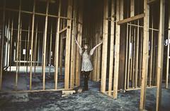 (yyellowbird) Tags: selfportrait abandoned girl wooden construction bars cari