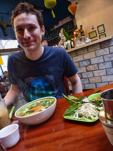 Darren loves his Veggie Pho!