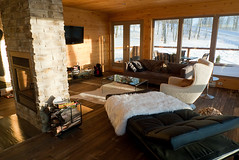 Living Room  #1 (xSilentRob) Tags: house canada window chair fireplace quebec qubec montblanc chaise theglasshouse saintfaustin