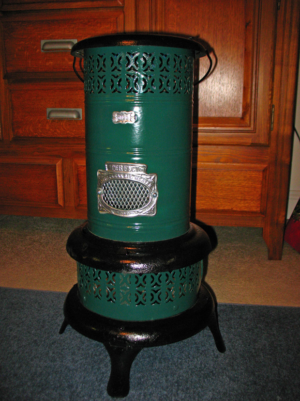 green heater after