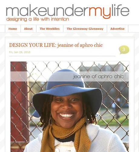 makeunder my life interview