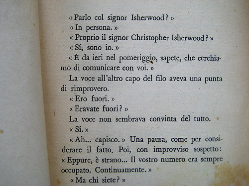 Christopher Isherwood, La violetta del Prater, Mondadori 1948, p. 5 (part.), 1