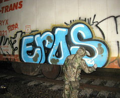 EROS Action Shot 2009 (-EROS-) Tags: minnesota minneapolis eros twincities tci akb minneapolisgraffiti 71309 allkings twincitiesgraffiti minnesotagraffiti trainchamps erosgraffiti