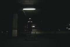 (Serge!!) Tags: park street light people man car dark one fantastic loneliness basket deep atmosphere minimal buy mystical atmospheric
