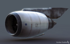 CGI Jet Engine (Aaron Escobar) Tags: electric 3d cg mr general maya render autodesk engine airbus boeing hdri cgi mentalray turbofan cf6 highbypass