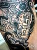 PIERNA CON DISEÑO MAYA 3 (roca tattoo studio) Tags: tattoo arte maya cultura tatuaje calendario azteca precolombino prehispanico