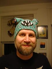 Fuzzy in Monster Hat