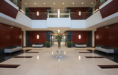 The Pyramids (Wade Griffith) Tags: wood buildings tile corporate dallas office interiors texas wideangle lobby medical entryway f11 classa archirecture 10mm healthcarerealty thepyramids onefastbuffalo wadegriffith2010