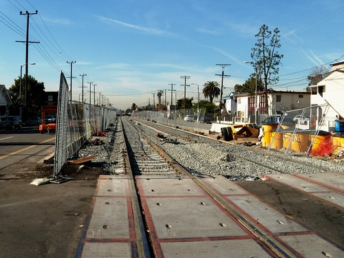 MTA Expo Line Looking West From Raymond Ave.
