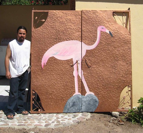 Pink Flamingo doors