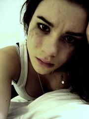 ill just keep crying. (xokatieox) Tags: white black me broken face pain tears sad darkness heart mascara picnik heartbroken