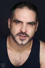 Zoran 03 (WF portraits) Tags: bear portrait hairy black male studio naked beard model muscle chest