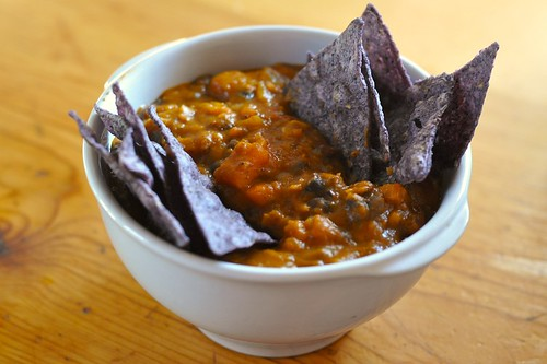 """Black"" bean soup"