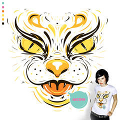 Feline (Kliment*) Tags: orange cat mouse feline tiger pussy tshirt meow puss tee lafraise