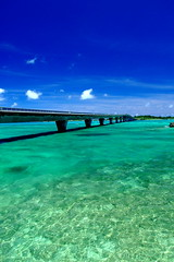 (( _`) Sho) Tags: bridge blue sea summer beach japan island  okinawa   miyako     ikema