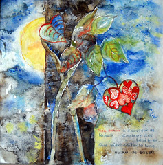 Art: Watercolour:..my LOVE 2010...(idea after a Haiku of Sseki, 1867-1916) (Nadia Minic) Tags: moon tree art love night lune painting mond leaf interestingness poetry darkness heart haiku nacht aquarelle coeur poetic amour soul watercolour luxembourg soir blatt nuit arbre soulful herz baum liebe feelings feuille posie tnbres finsternis abendevening sseki nadiaminic nadiaart heartfeeling