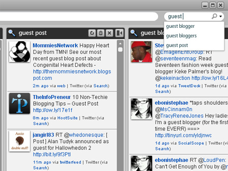 Use Seesmic to track guest posting opportunities