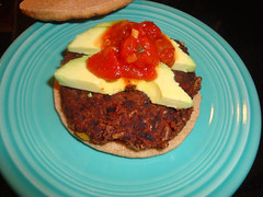 Black Bean Mole Burger