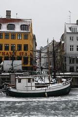 Nyhavn (.michelle.marie.) Tags: winter snow ice copenhagen nyhavn boat