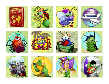 free Travel Bug slot game symbols