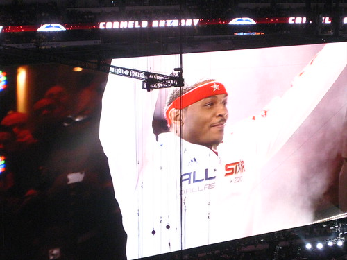 Carmelo Anthony. Funny that his finace is named LaLa too!