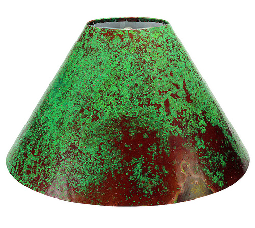 patina copper lamp shade verde