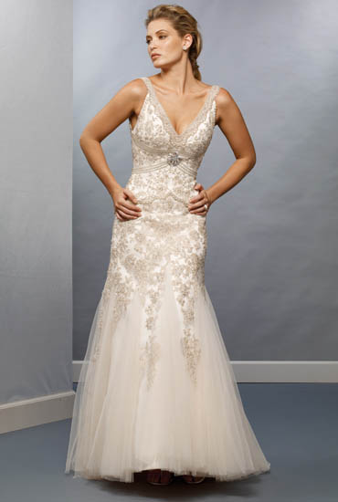 Wedding gown styles different color